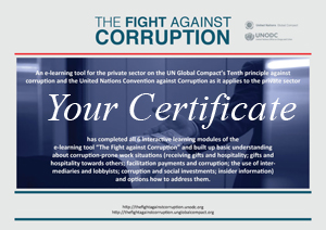 The Fight against Corruption